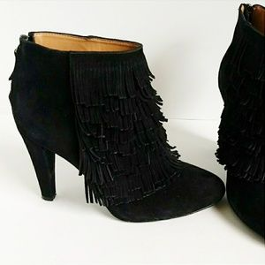Banana Republic Shoes - BANANA REPUBLIC | Darcy Suede Fringe Booties 7.5M